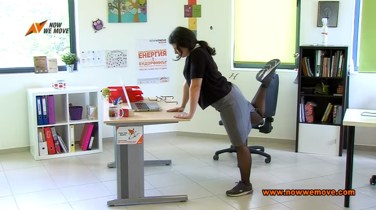 MOVEment pills office exercises hamstrings and glutes