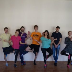 Yoga session with EVS volunteers