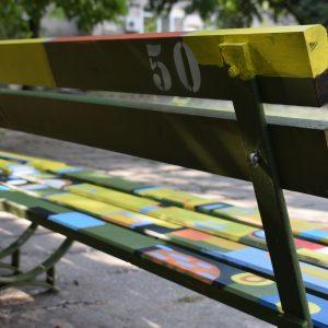 Целувката на Густав Климт се появи върху пейка номер 50 от проекта _Място