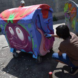 Рисунки върху контейнери за отпадъци приканват пловдивчани да пазят чисто